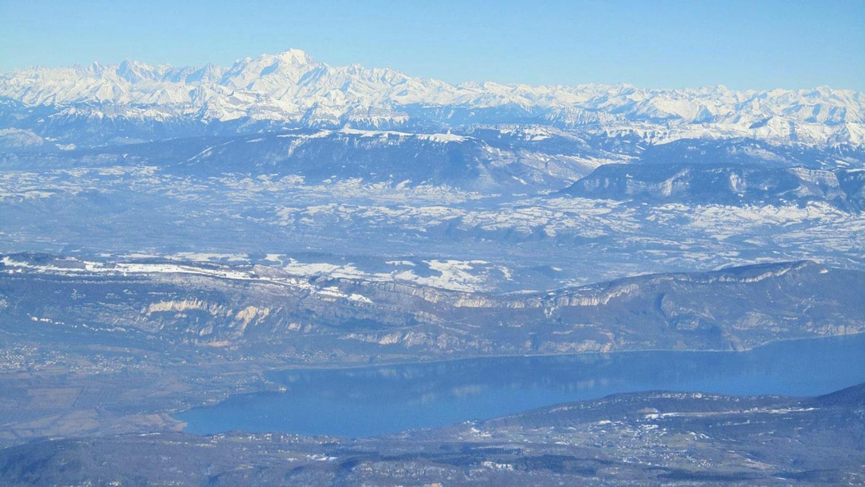 Vue des Alpes et du Mont Blanc